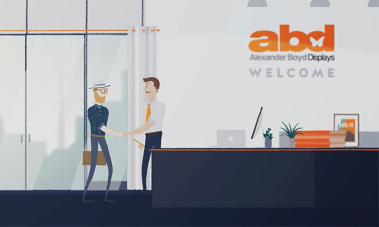 another illustration done by Viralbamboo for Alexander Boyd Displays