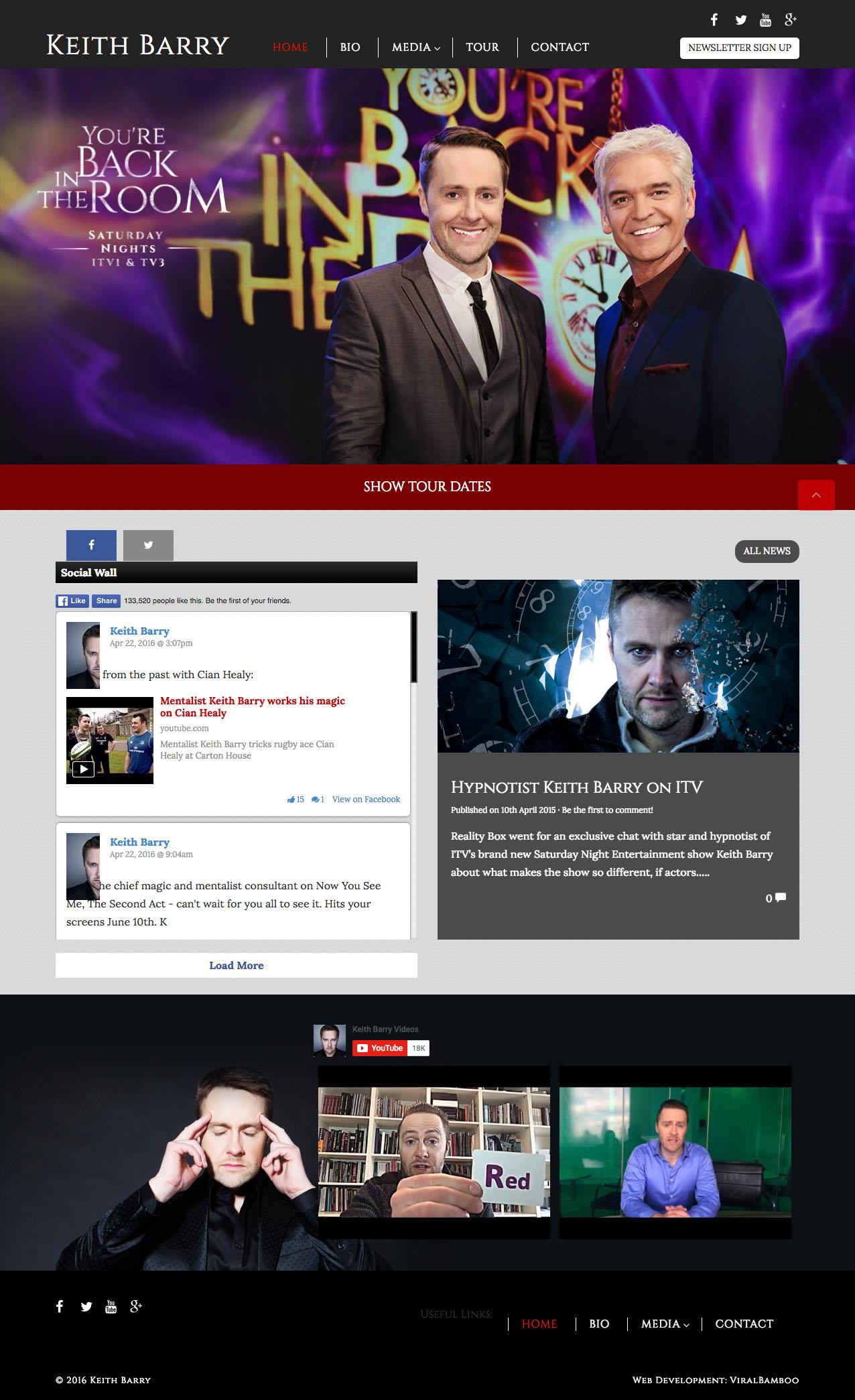 screenshot of Keith Berry's website